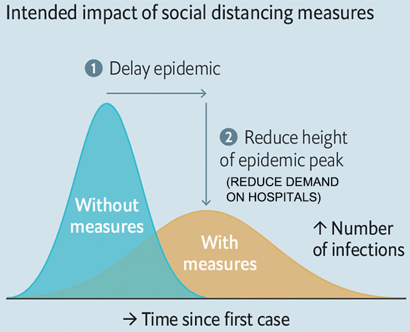PrudentBiotech.com ~ Pandemic Bell Curve ~ Source: CDC, The Economist, edits by PrudentBiotech.com